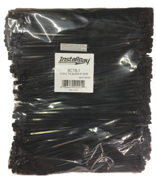 Black Install Bay BCT4-1 4-Inch 18-Pound Cable Tie 1000-Pack